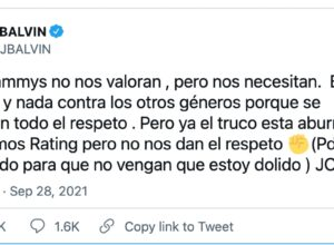 "J Balbin contra los Latin Grammys: ""No nos valoran pero nos necesitan"""