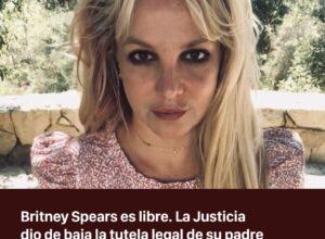 Fallo a favor de Britney Spears: la Justicia suspendió la tutela legal de su padre